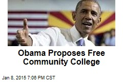 Obama proposes two free years of community college