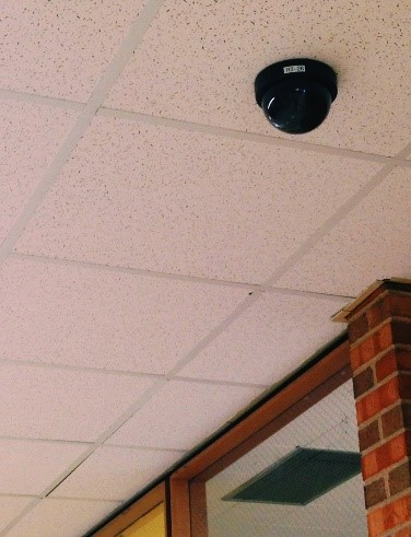 Security cameras in school hallways are relatively common; however, some schools are now considering installing video cameras within classrooms. Photo courtesy of Sydney Czyzon.