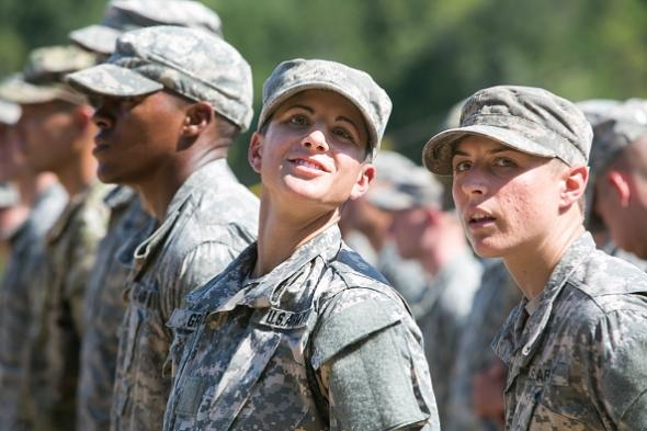 Capt. Kristen Griest, left,  and First Lt. Shaye Haver, right, were the first female graduates of the U.S. Army Ranger School. Photo courtesy of slate.com.