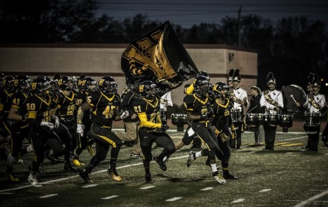 The Joliet West Varsity football team welcomed James Newby as their new kicker this year. Photo courtesy of jths.org