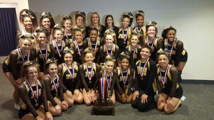 West cheerleaders take State title