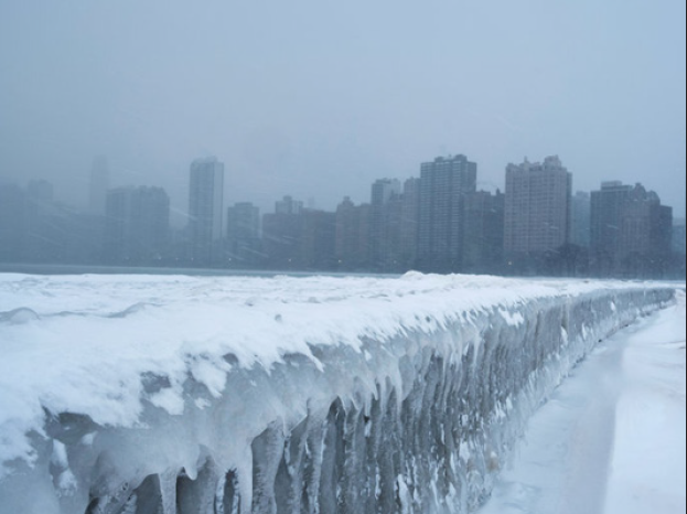 Previously in January 2019, a polar vortex prevented many students from going to school in the extreme cold. However, this year with the introduction of E-learning days, this will no longer happen in the event of extreme weather. This image is of icicles on North Avenue Beach of Lake Michigan in Chicago last year during the polar vortex. Photo courtesy of NPR.org.