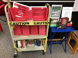 @JTWestLibrary always highlights Banned Book Week to encourage students to check out the titles for themselves.