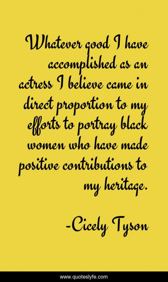 The Legacy of Cicely Tyson