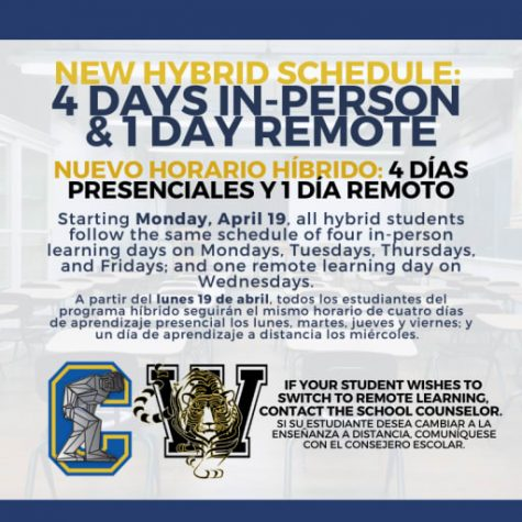 New four day in-person schedule announced
